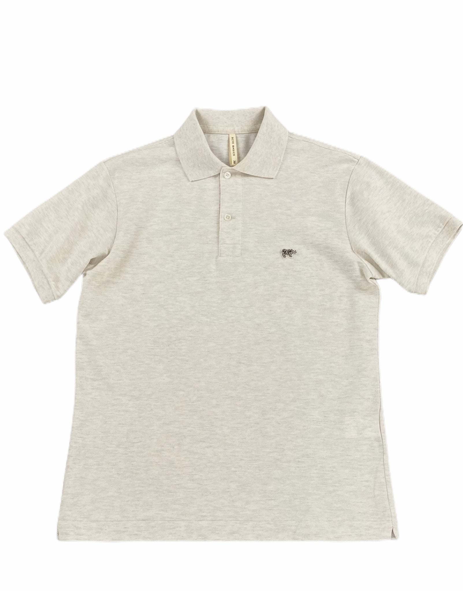 Grey Solid Pique Polo Shirt (Men)