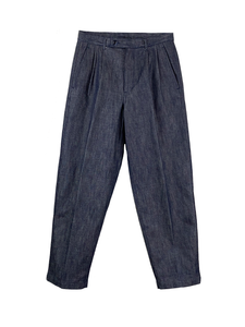 5120-81542 San Joaquin Denim Pleated Wide Tapered Trousers (Men)