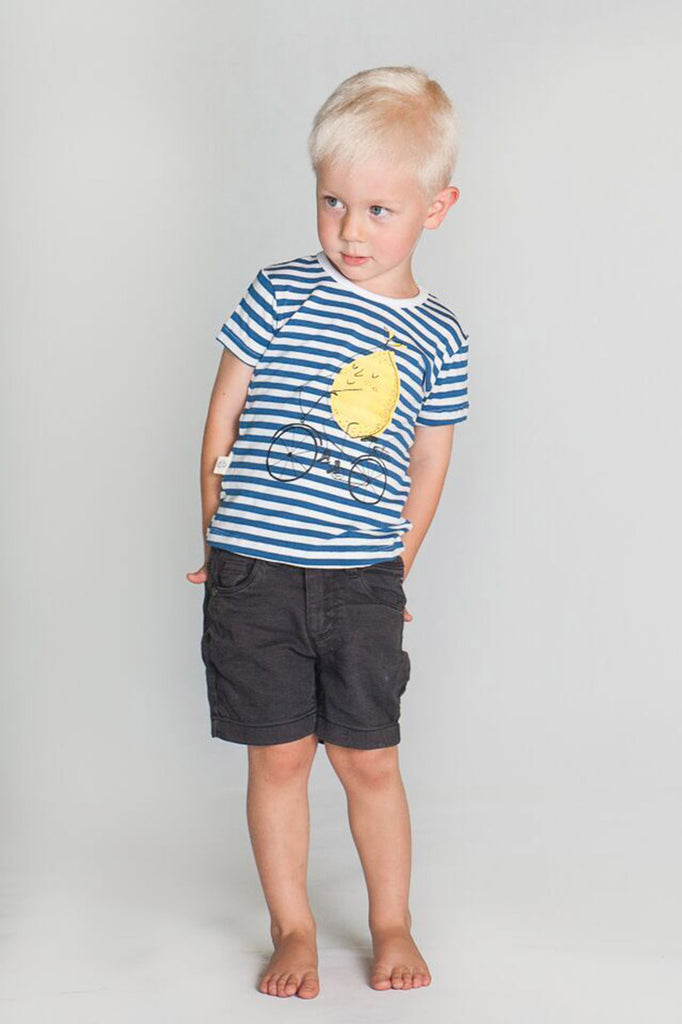 Blue Stripe Lemon Bike Tee