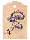 Country Flowers Cherrywood Gift Tag