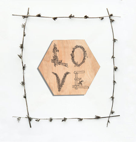 L.O.V.E Hexagon Wall Plaque