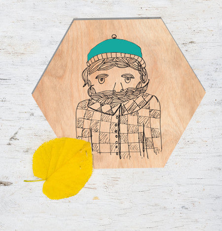 Lumberjack Hexagon Wall Plaque