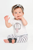 Babies Bamboo Skinnies, Black and white stripe
