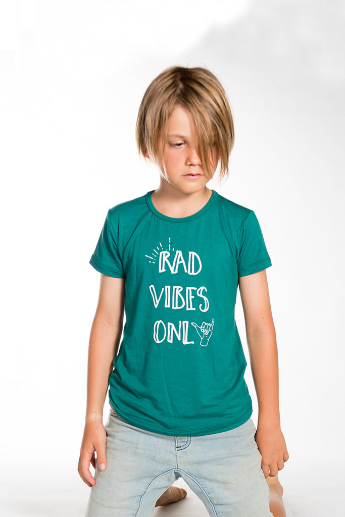 Bamboo Tee, Forest Rad Vibes Only