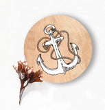 Anchor Circle Wall Plaque