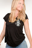 Ladies Tee, Black Create with your hands every day