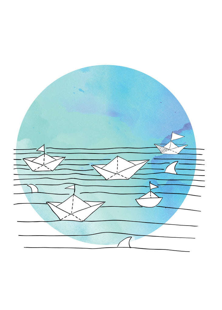Paper Boats Poster Print