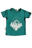 Bamboo Tee, Mountain pines in Forest Green