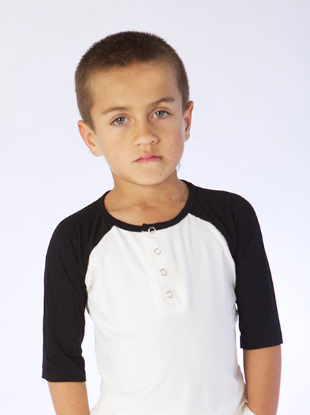 Black, and White Bamboo Baseball Tee, Grandpa styles