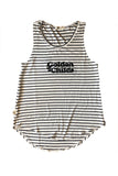 Ladies Tank, Striped Golden Child