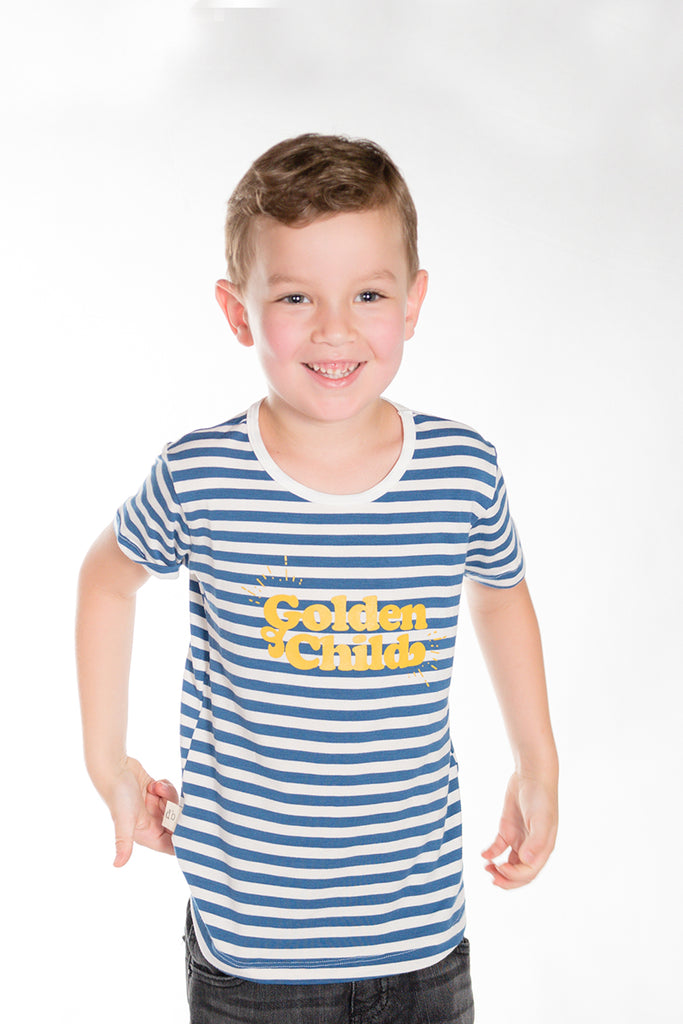 Blue Stripe Golden Child Tee