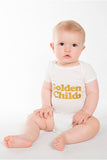 Golden Child Onesie, white and Glittering Gold