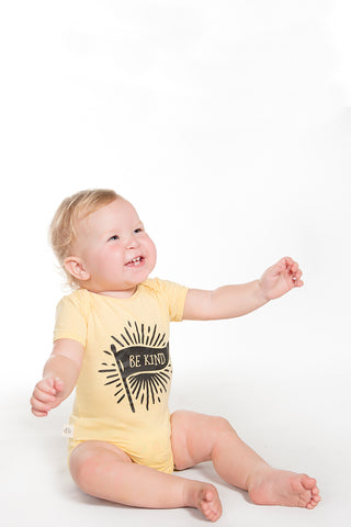 Yellow Be Kind Onesie