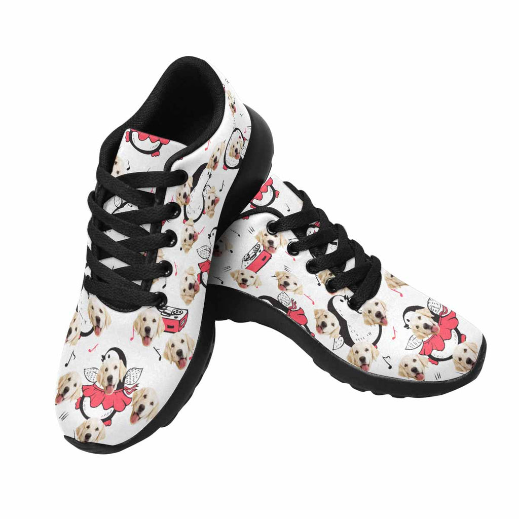 Personalized Picture Dancing Penguins Dog Men's Running Shoes