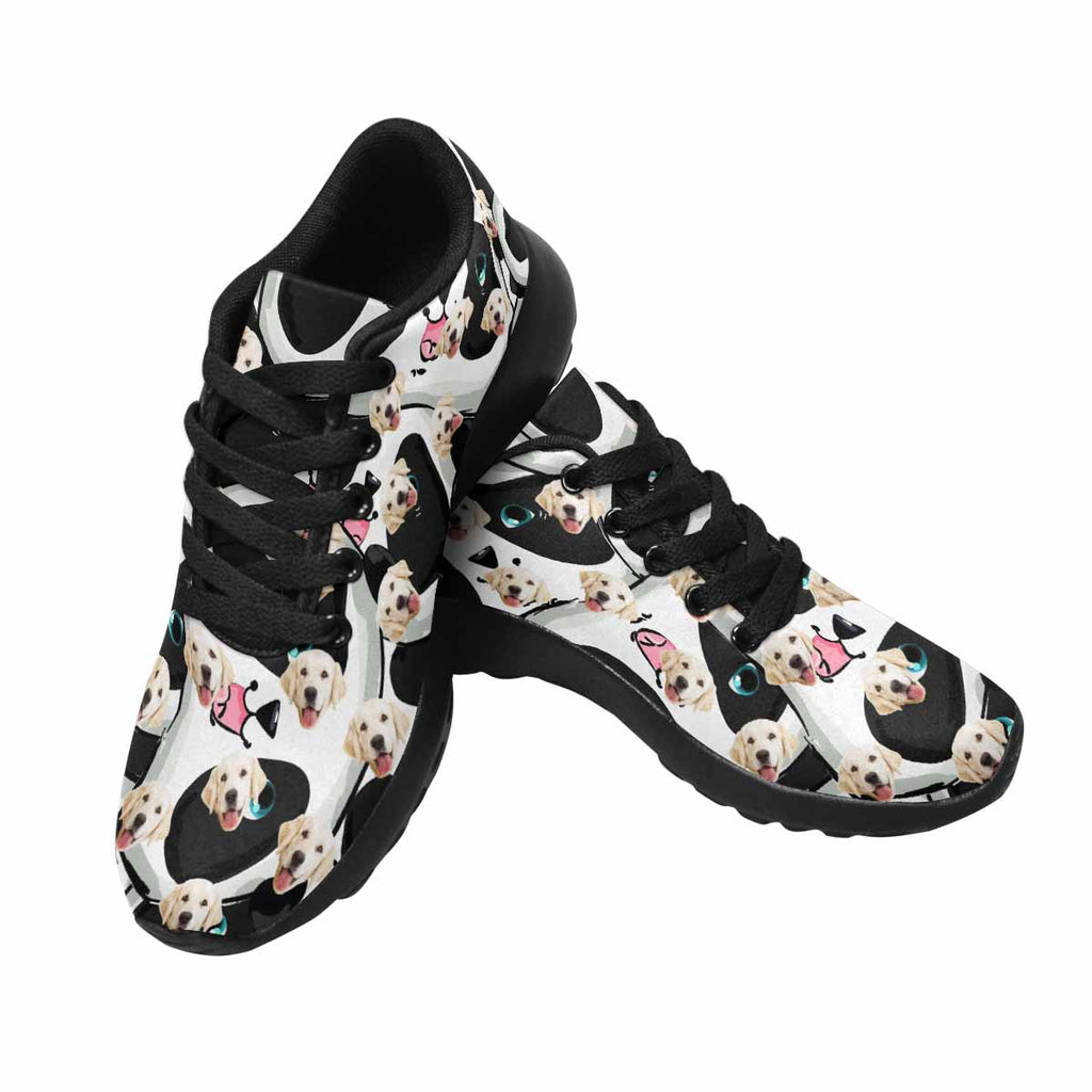 Custom Printed Photo Cute Panda Dog Men's Running Shoes