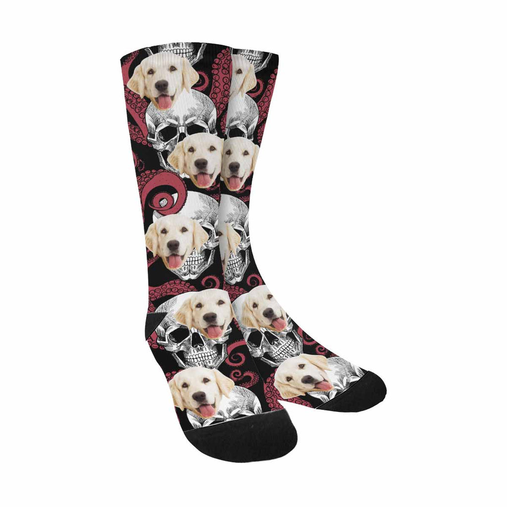 Custom Printed Tentacles Of The Octopus Skull Pet Socks