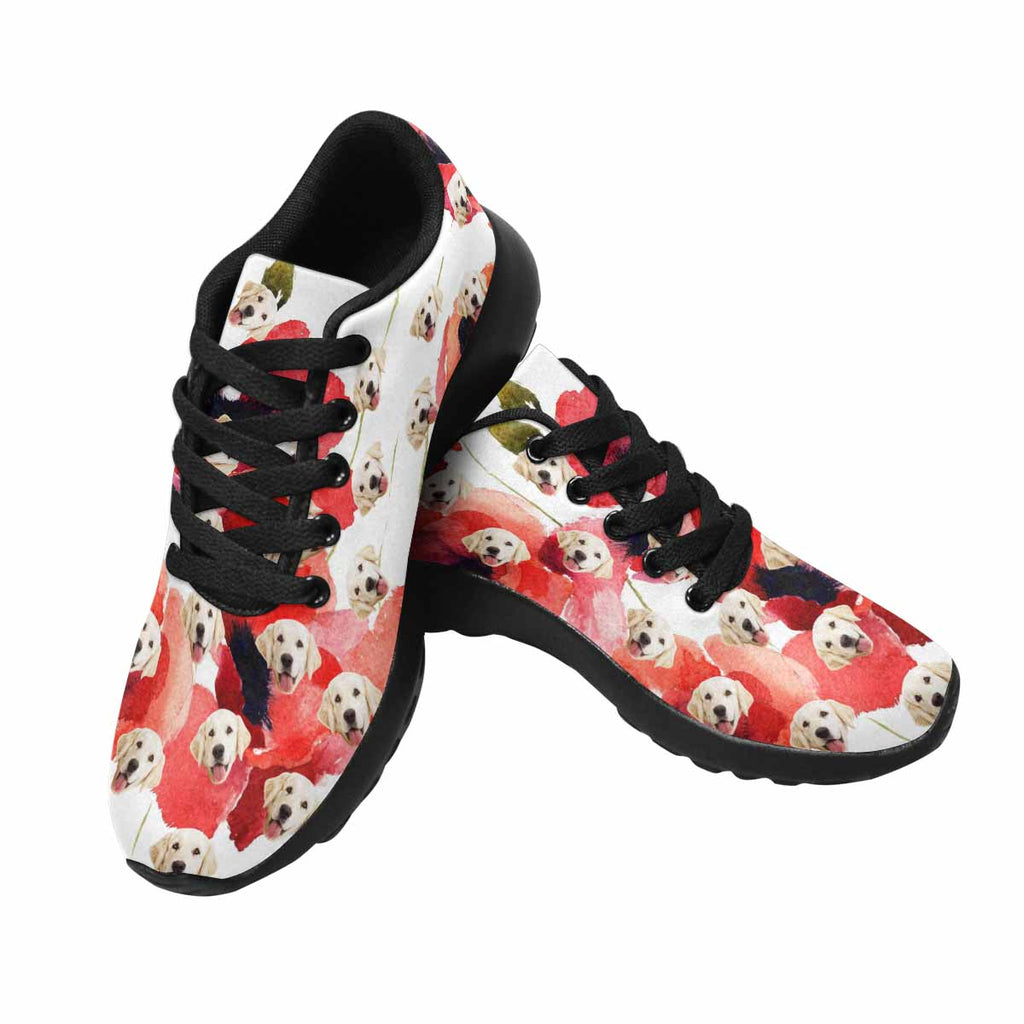 Custom Printed Picture Watercolor Poppy Women's Pup Sneakers