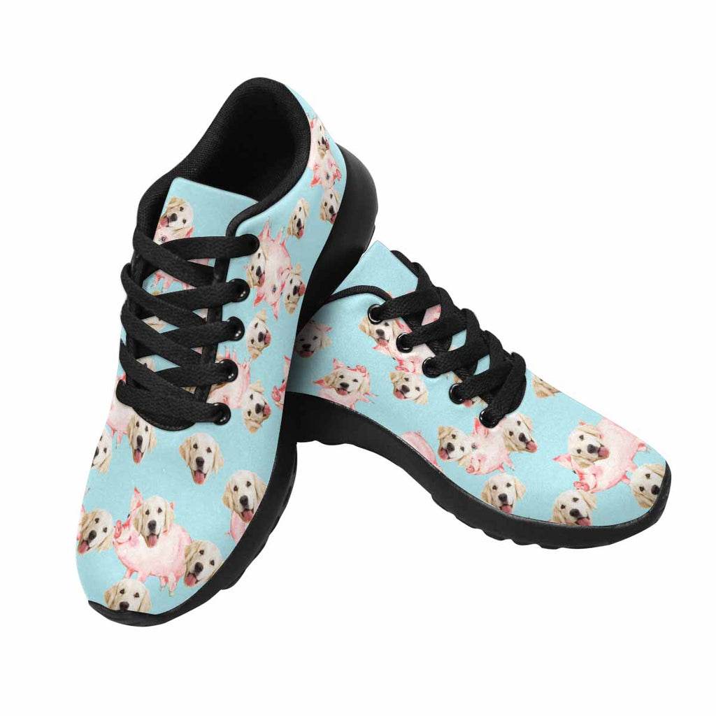 Personalized Picture Cute Piggy Dog Women's Running Shoes