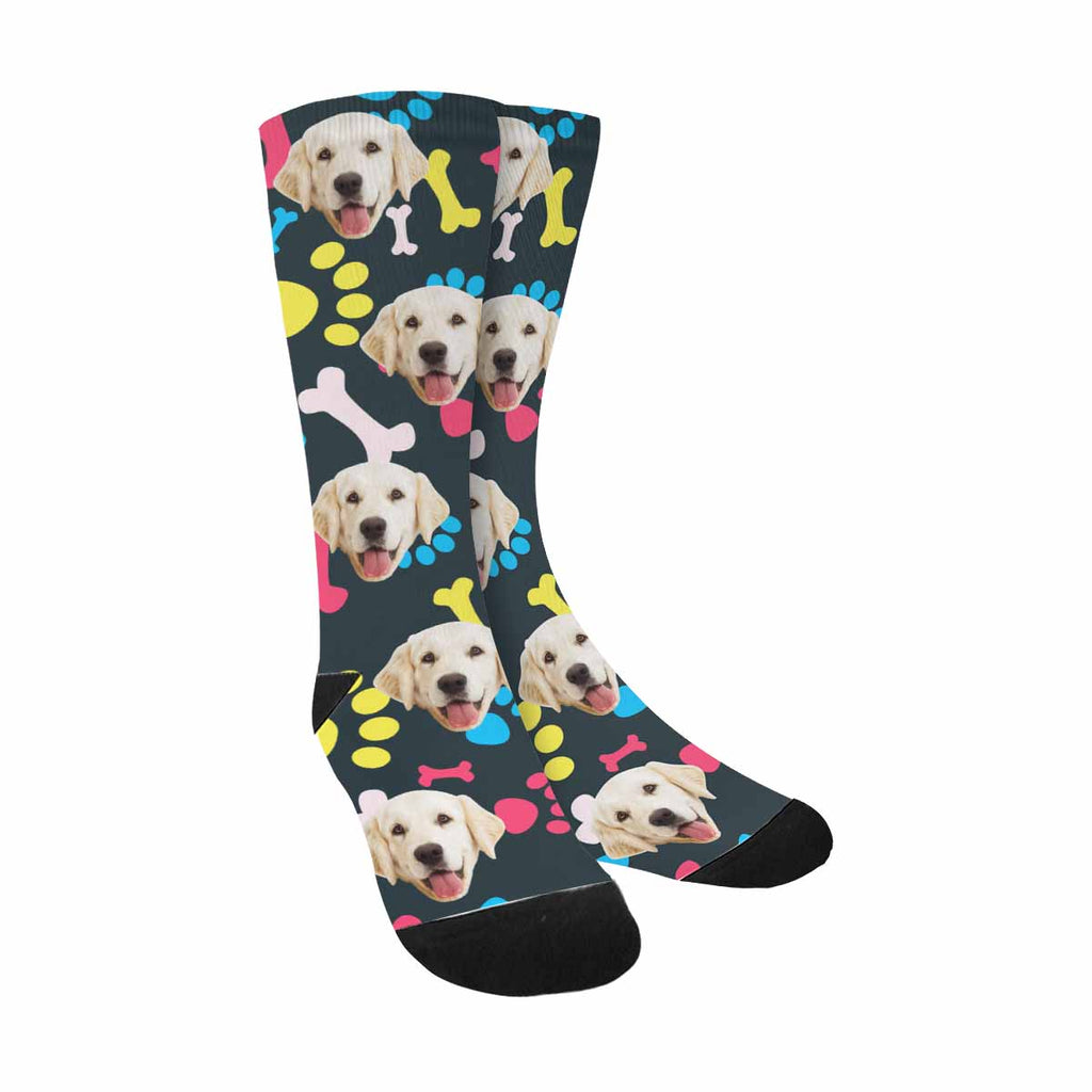 Personalized Picture Dog Bones and Paw Pet Socks