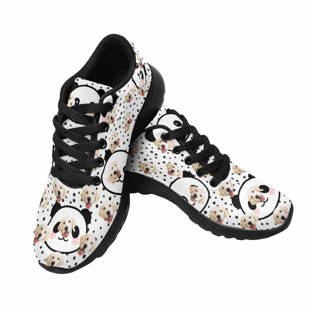 Personalized Picture Cartoon Panda Dog Men's Running Shoes