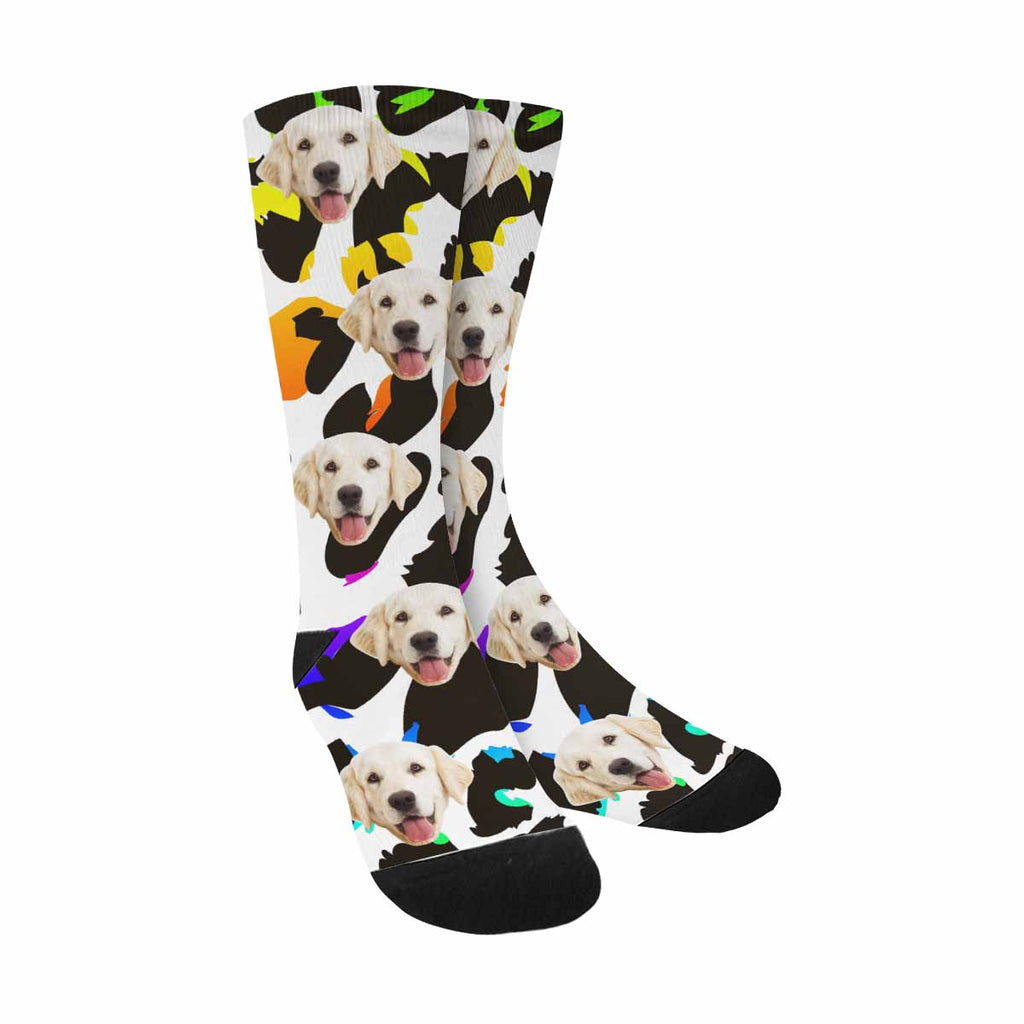 Custom Photo Leopard Dog Socks