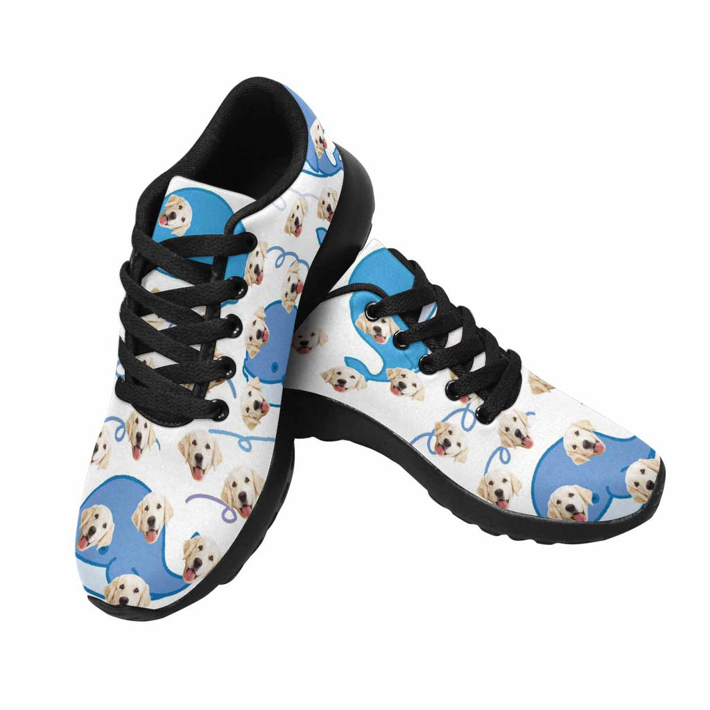 Custom Printed Photo Blue Whales Women's Pup Sneakers