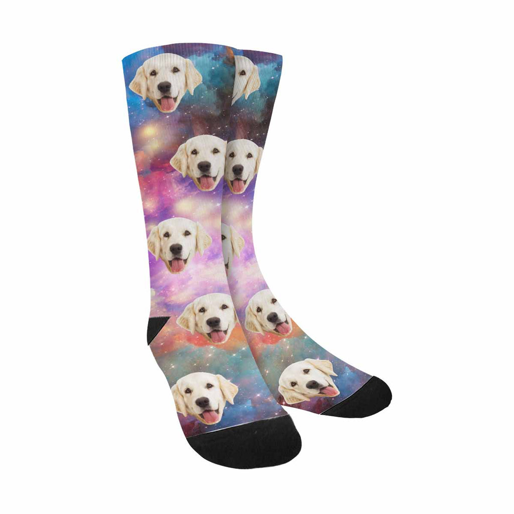 Personalized Picture Galaxy Pet Socks