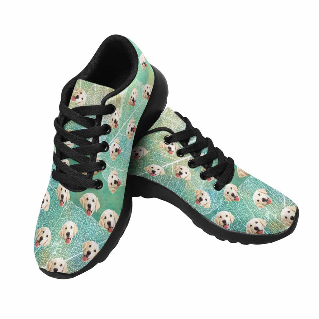e7d234903575 Made in USA Custom Printed Photo Leaves Silhouettes Dog Women s Running  Shoes