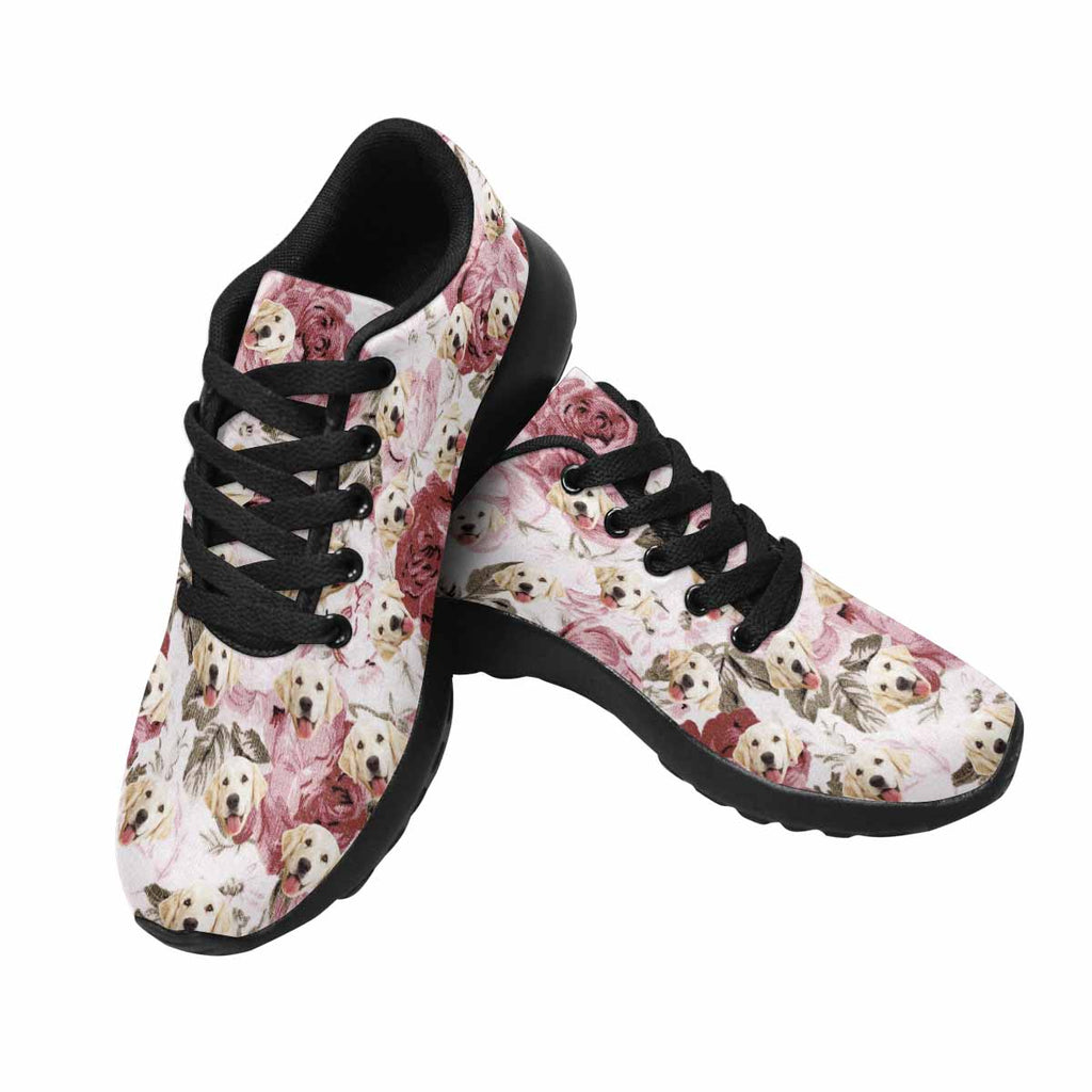 Personalized Photo Vintage Rose Pet Women's Running Shoes