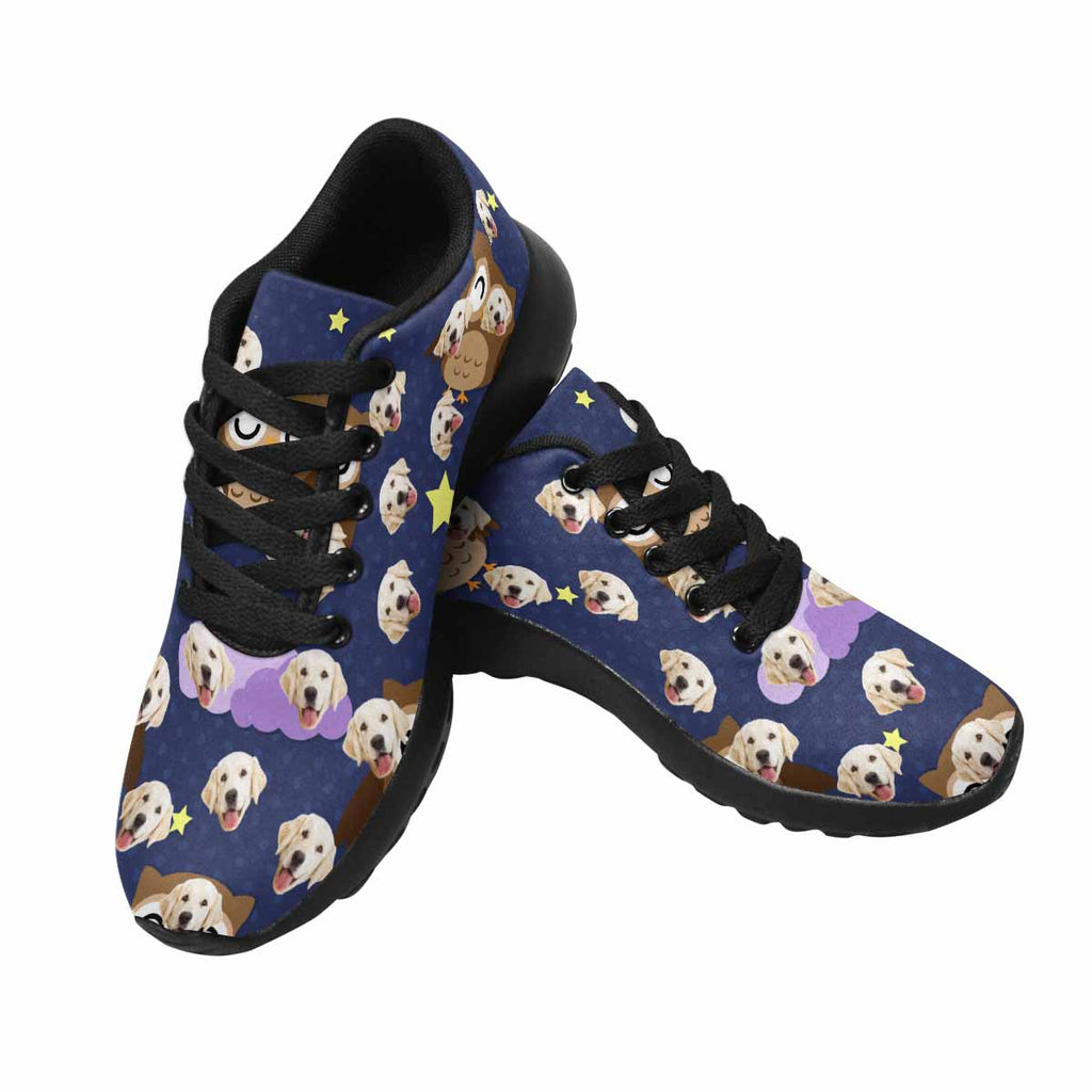Personalized Photo Owls Men's Pup Sneakers