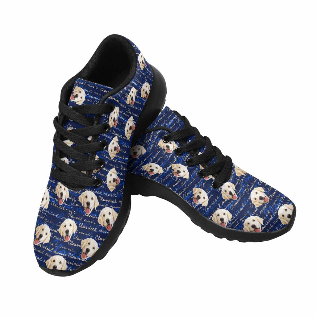 Custom Printed Picture Lettering Classical Music Women's Pup Sneakers
