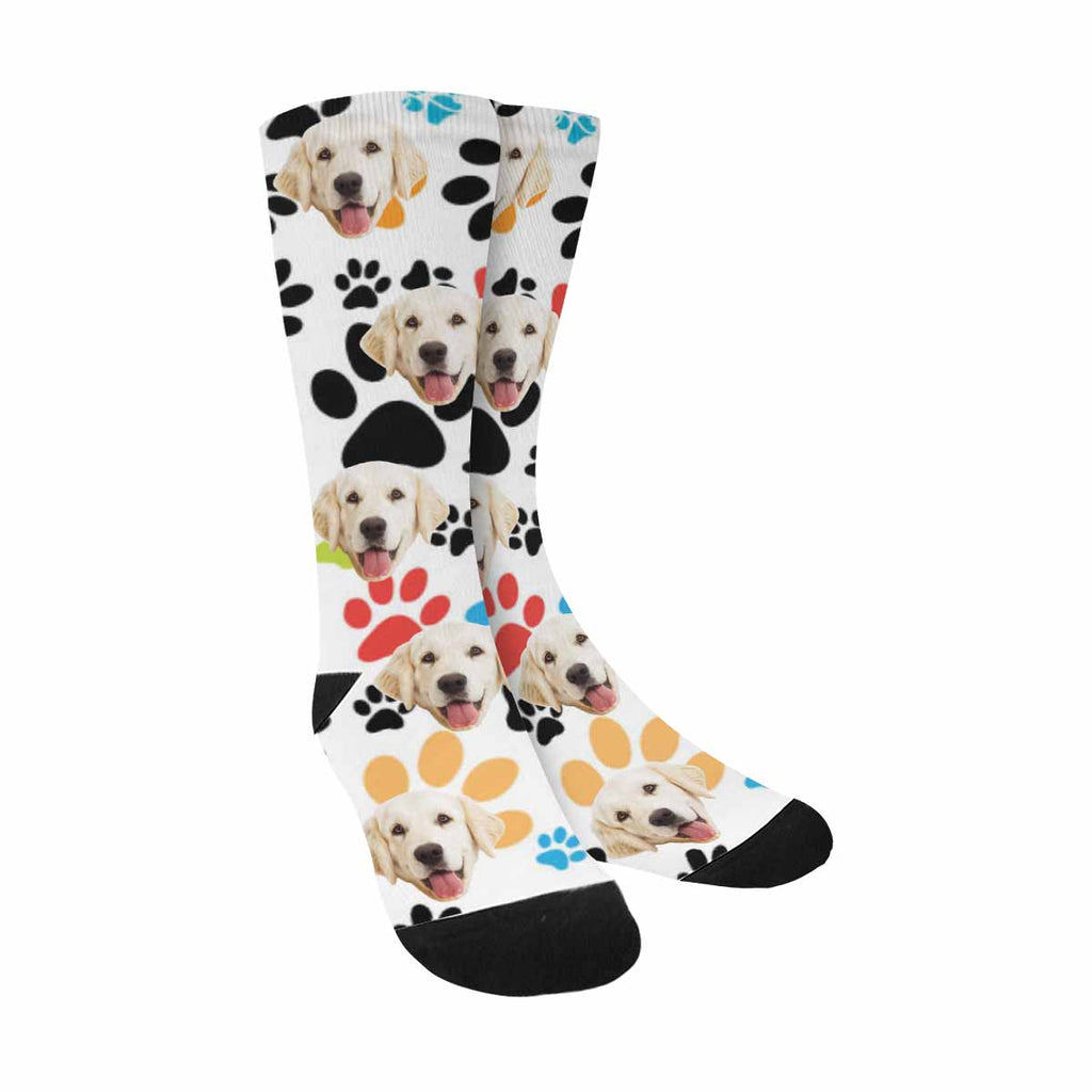 Personalized Picture Paws Dog Socks