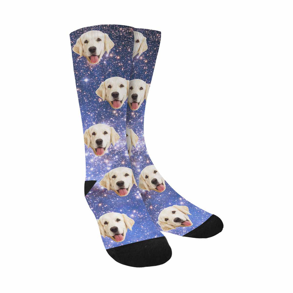 Personalized Picture Star Field Pet Socks