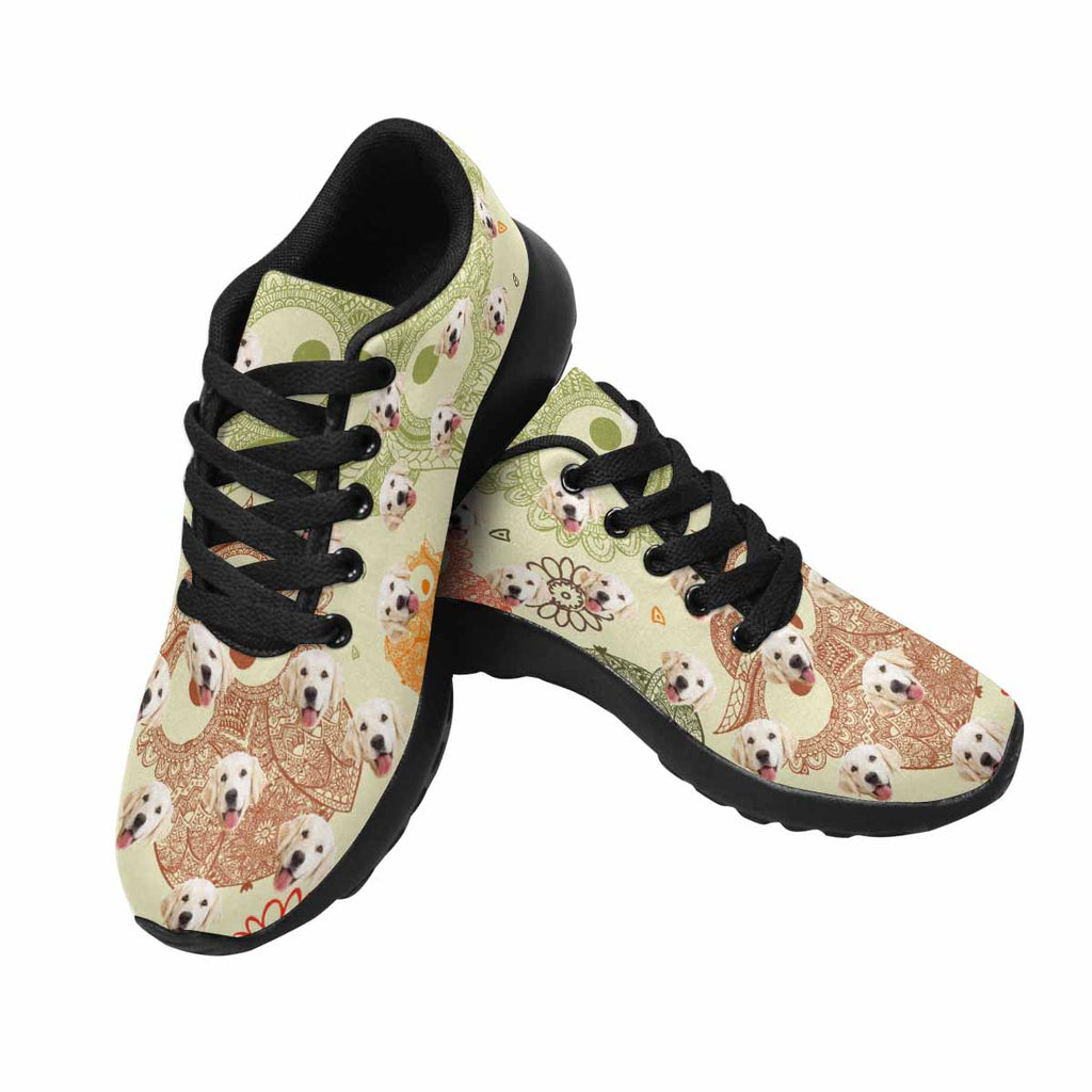 Custom Printed Cute Owls Dog Men's Running Shoes