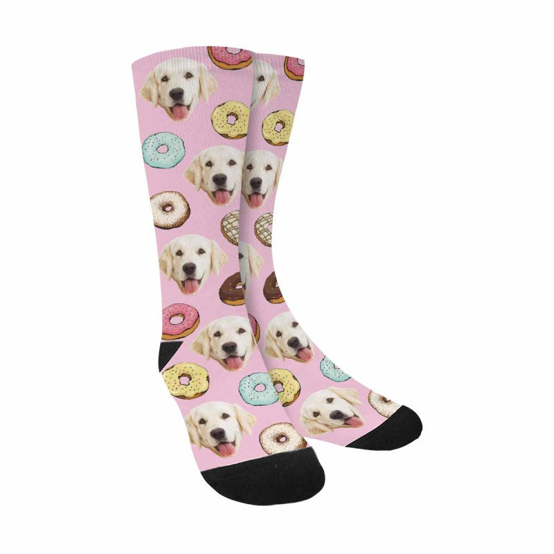 Personalized Picture Donuts Pet Socks