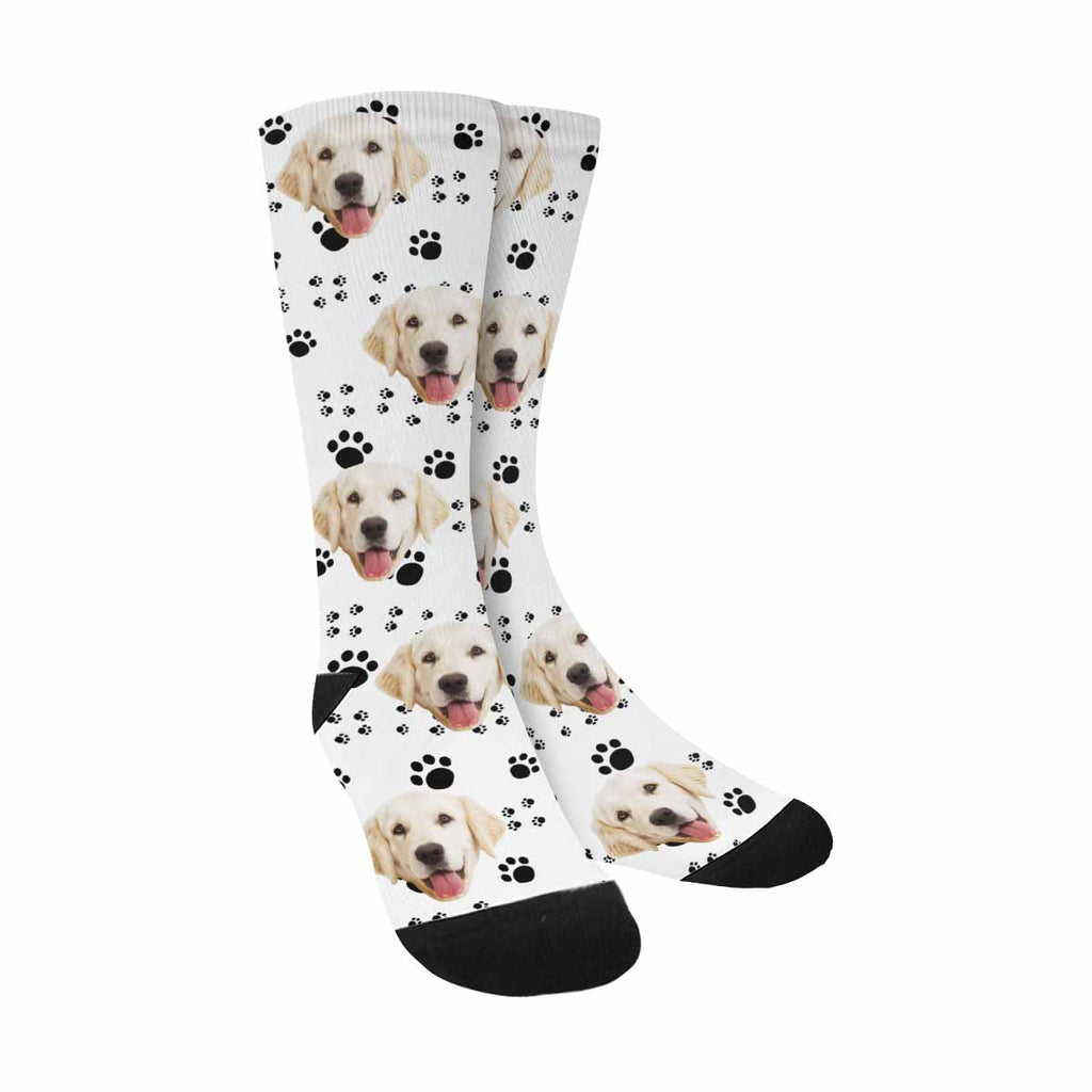 Custom Photo Paw Dog Socks