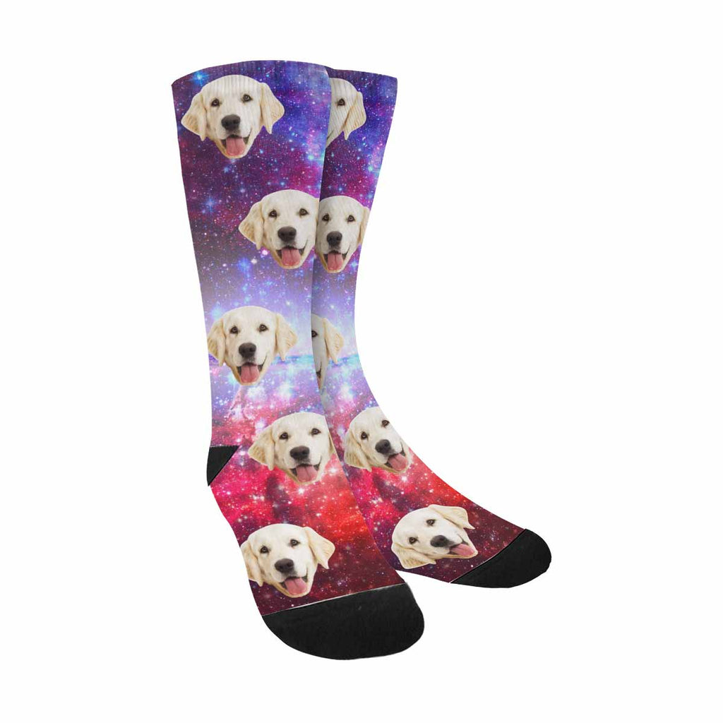 Custom Printed Picture Beautiful Spiral Galaxy Pet Socks