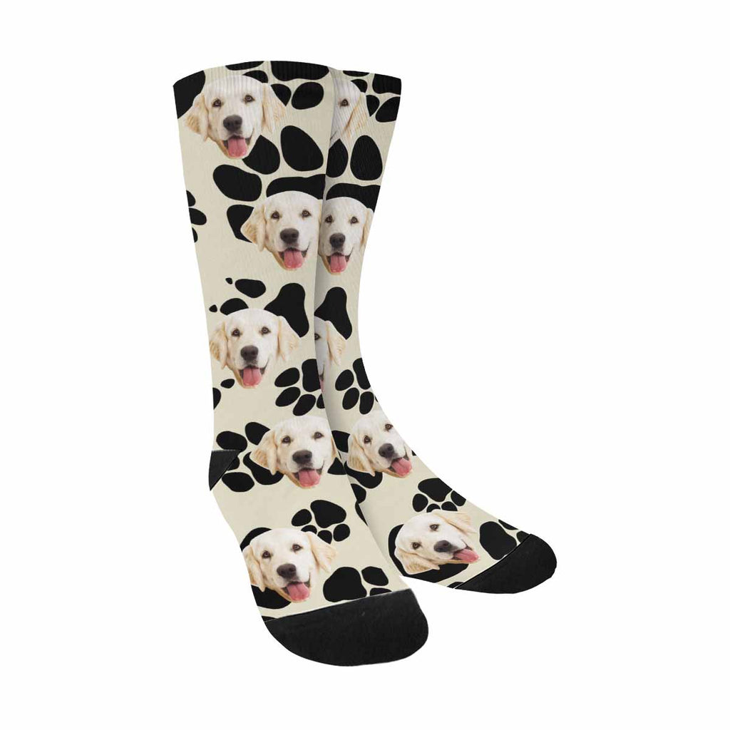 Custom Printed Picture Dog Paw Pet Socks