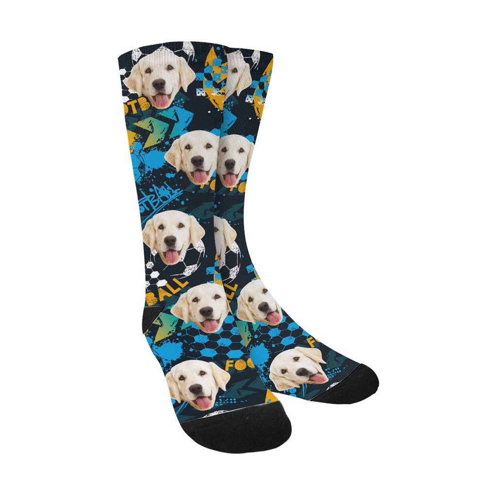 Personalized Picture Grunge Urban Football Pet Socks