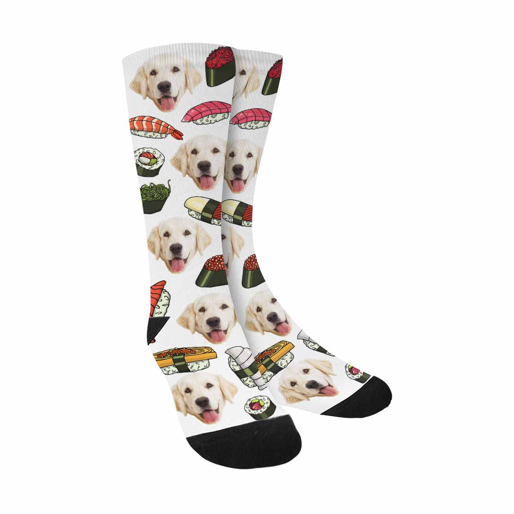 Custom Printed Photo Sushi Pet Socks