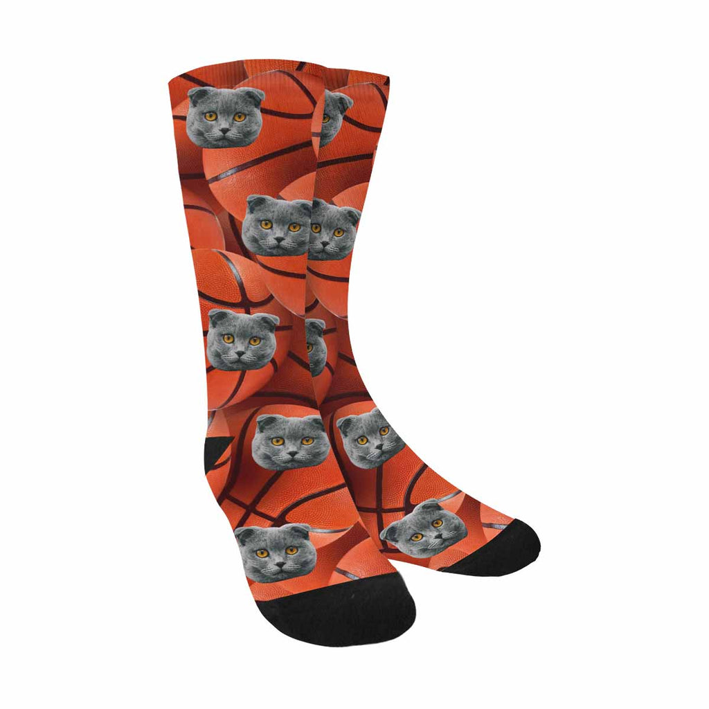 Custom Printed Photo Basketball Pet Socks