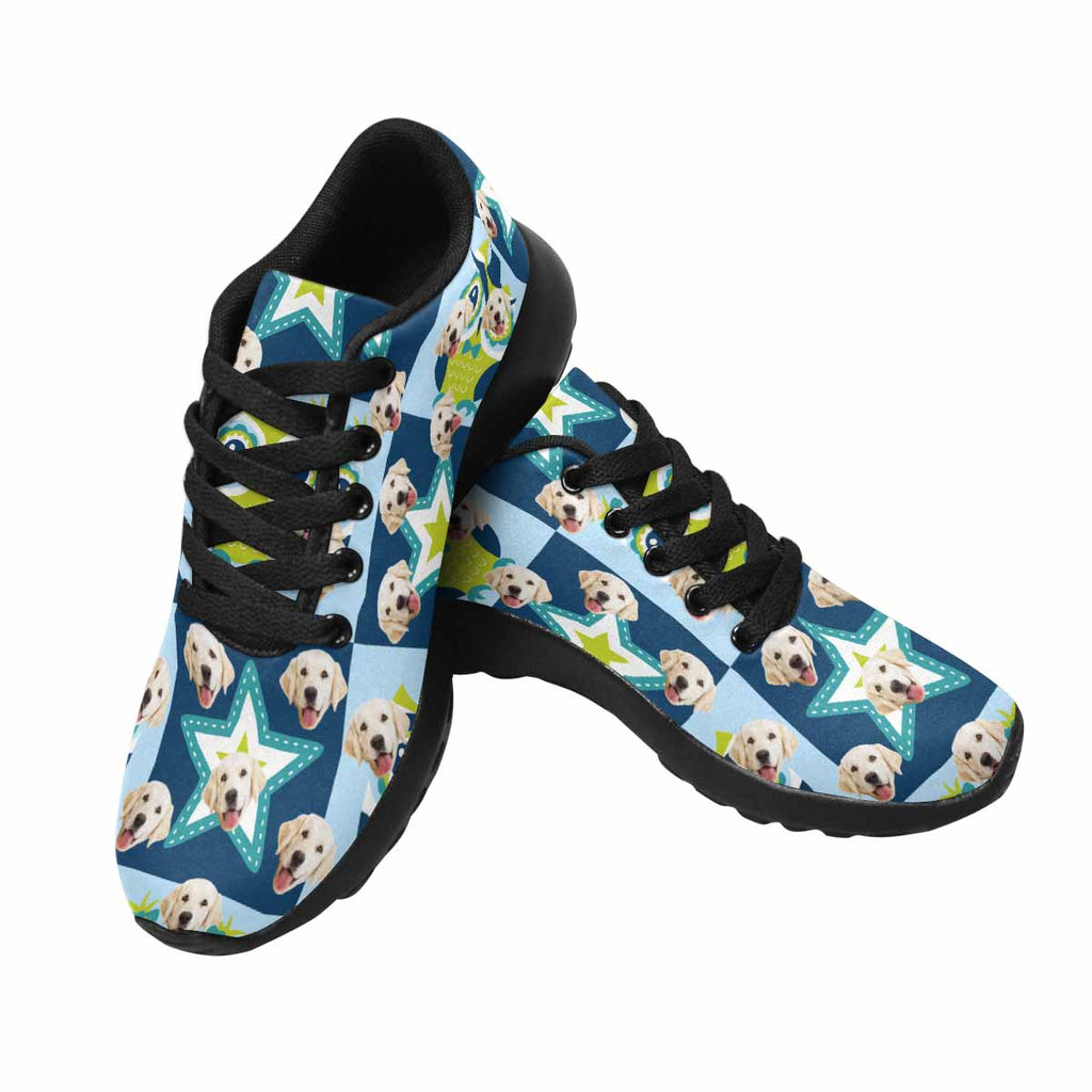 Custom Printed Photo Owls and Stars Men's Pup Sneakers
