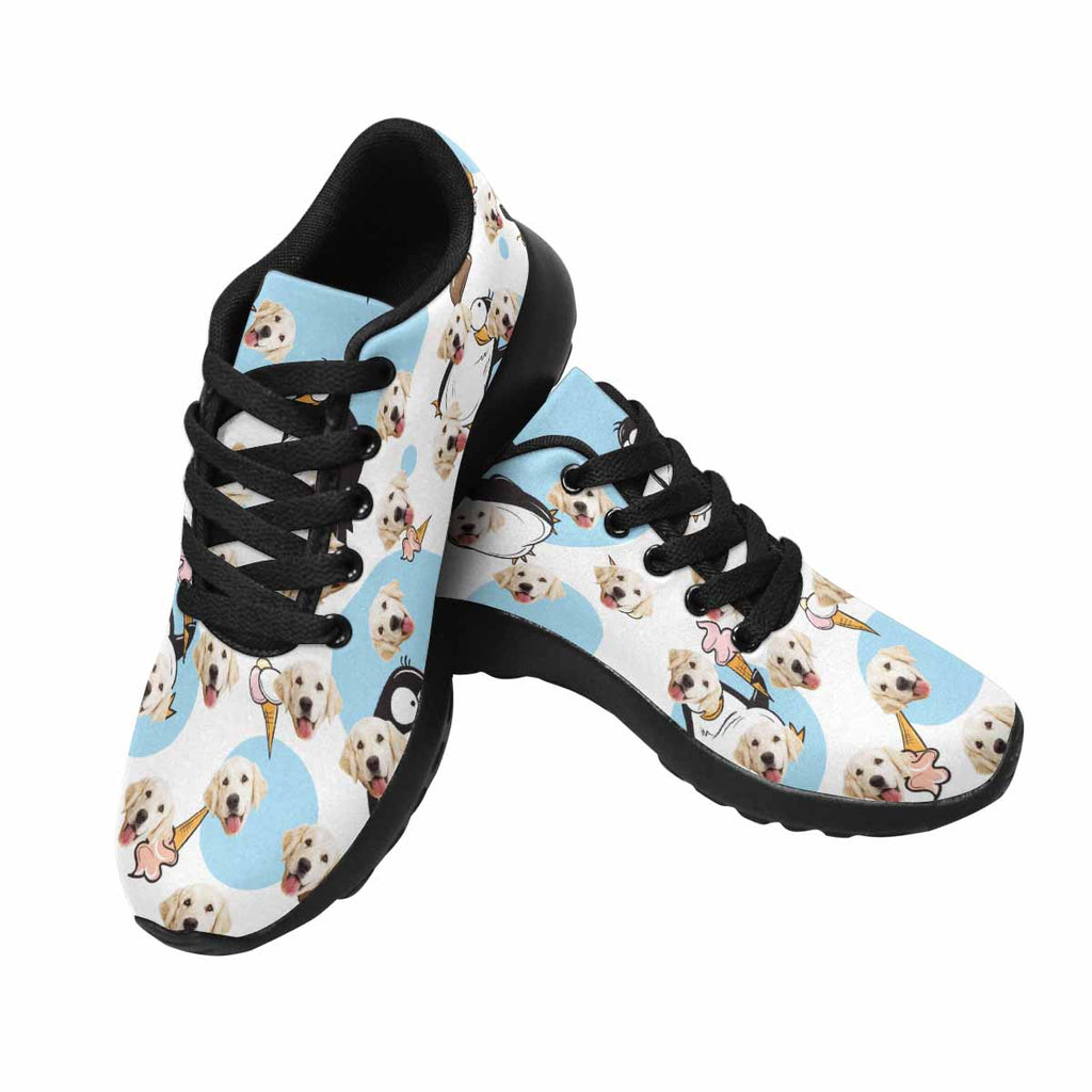 Custom Printed Photo Penguin Dog Women's Running Shoes Ice Cream