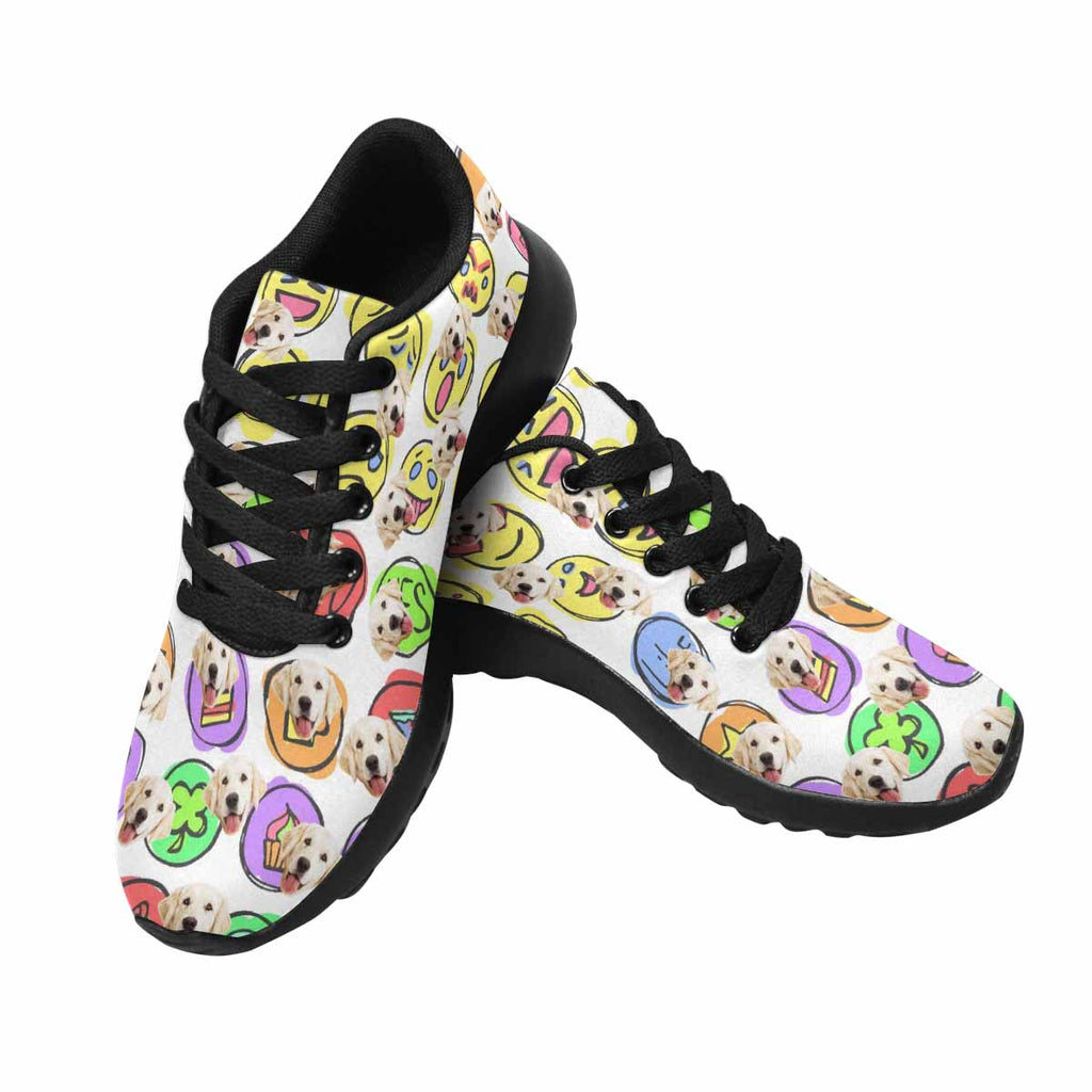 Personalized Printed Emoticons Set Pet Women's Running Shoes