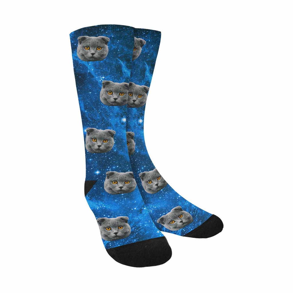 Custom Printed Photo Galaxy Pet Socks Stars Nebula