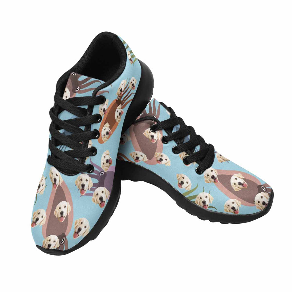 Custom Printed Photo Colorful Octopus Men's Pup Sneakers