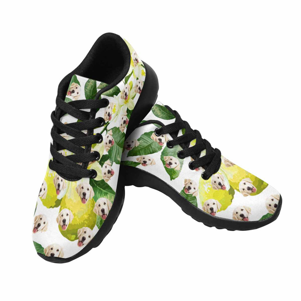 Custom Printed Lemons Pet Women's Running Shoes