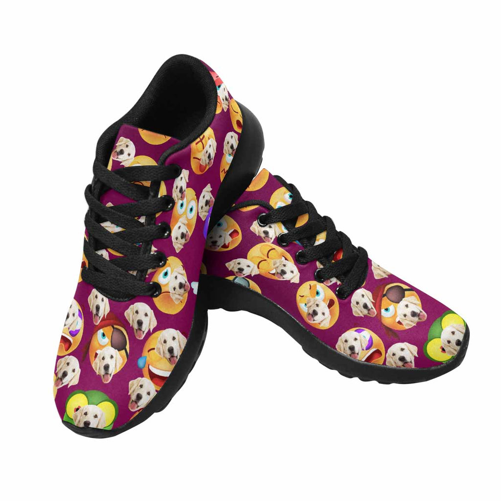 Custom Printed Photo Cute Emoticons Pet Women's Running Shoes