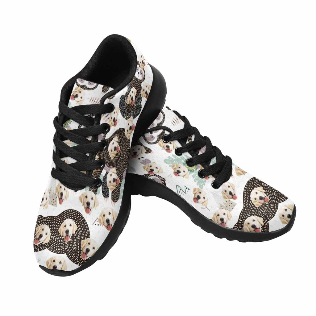 Custom Printed Photo Cute Sleeping Sloth Dog Women's Running Shoes