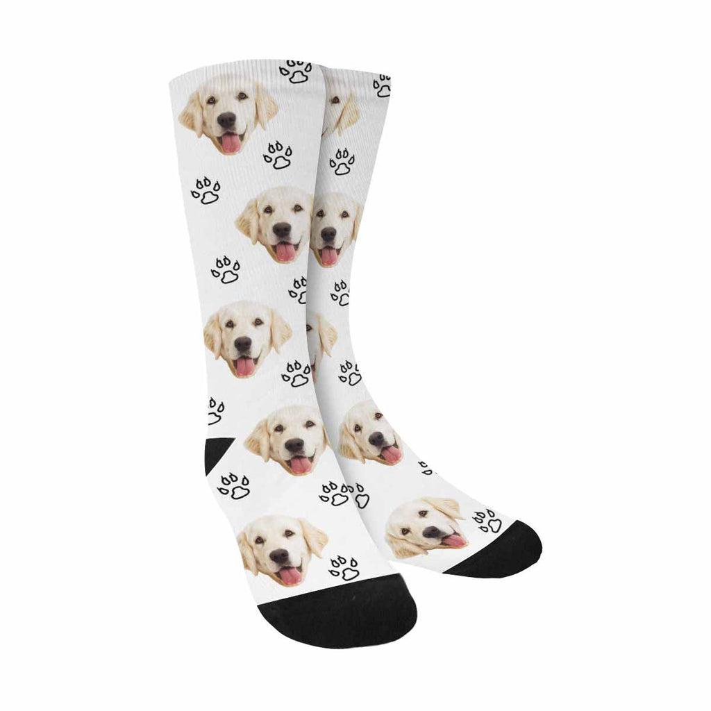 Custom Printed Picture Paws Dog Socks